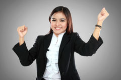Portrait of a excited businesswoman Royalty Free Stock Photo