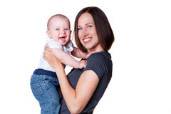 Portrait of excited family. Royalty Free Stock Images