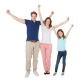 Portrait Of Excited Family Stock Photo