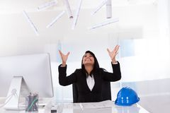 Portrait Of Excited Female Architect Stock Photos