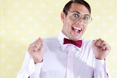 Portrait of Excited Goofy Man Royalty Free Stock Photos