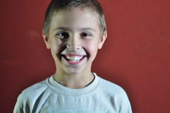 Portrait of excited happy small boy Royalty Free Stock Photography