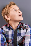 Portrait of excited little boy. Stock Image