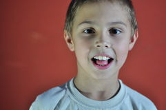 Portrait of excited small boy Royalty Free Stock Photo