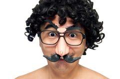 Happy nerdy man stock photo