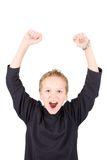 Portrait of an excited young boy Royalty Free Stock Photos