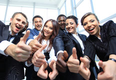 Portrait of excited young business people Royalty Free Stock Photography