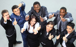 Portrait of excited young business people Royalty Free Stock Photo