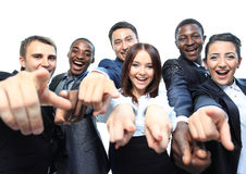 Portrait of excited young business people Stock Photography