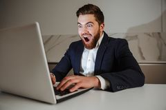 Portrait of an excited young businessman Royalty Free Stock Photo