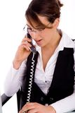Portrait of executive busy on phone Royalty Free Stock Image