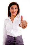 Portrait of executive with thumbs up Stock Photography