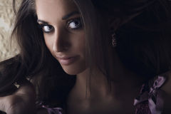 Portrait of exotic brunette Royalty Free Stock Images