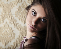 Portrait of exotic brunette Stock Images