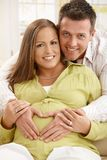 Portrait of expecting couple Royalty Free Stock Photo