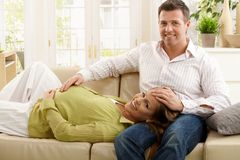 Portrait of expecting parents Royalty Free Stock Image