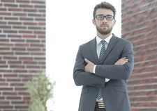 Portrait of an experienced lawyer. Business people.portrait of a practitioner experienced lawyer stock photo