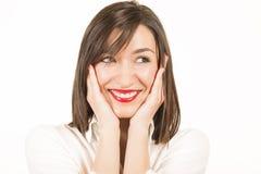 Portrait expressif d'une belle fille photo stock