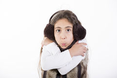 Portrait expression. Of child with cold Royalty Free Stock Photography