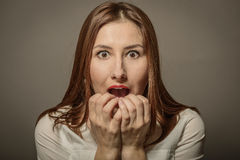 Portrait of expressive beautiful woman Stock Image