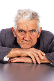 Portrait of an expressive old man Stock Images