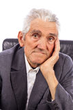 Portrait of an expressive old man Stock Photo