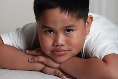 Portrait of expressive young boy Royalty Free Stock Image