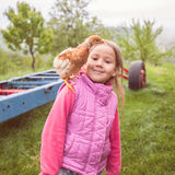 Portrait extérieur d'amis animaux heureux Photos libres de droits