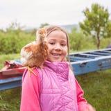 Portrait extérieur d'amis animaux heureux Image stock