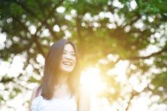 Portrait extérieur de femme asiatique image libre de droits