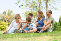 Portrait of extended family Royalty Free Stock Photo