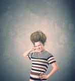 Portrait extrême de jeune femme de coiffure images libres de droits