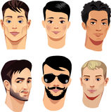 Portrait of face mens. Vector illustration of portrait of face mens Royalty Free Stock Photography