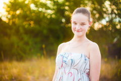 Portrait of face young beautiful girl woman Royalty Free Stock Photos