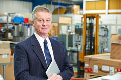 Portrait Of Factory Owner With Digital Tablet Royalty Free Stock Photography