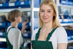 Portrait of factory worker Stock Images