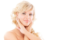 Portrait of fair-haired beautiful girl Royalty Free Stock Photography