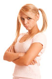Portrait of fair-haired girl Stock Photography