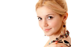 Portrait of fair-haired girl Stock Images