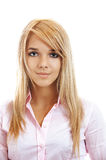 Portrait of fair-haired girl Royalty Free Stock Images