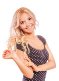 Portrait of fair-haired girl Royalty Free Stock Photography