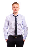 Portrait of fair-haired man Stock Photography