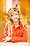 Portrait of fair-haired young woman Stock Image