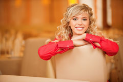 Portrait of fair-haired young woman Royalty Free Stock Photo