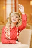 Portrait of fair-haired young woman stock photography