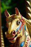 Portrait of fairgound horse Stock Photo