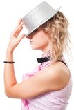 Portrait of a fairy with magician hat Stock Images