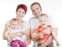 Portrait of a family Stock Photo