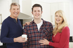 Portrait Of Family With Adult Son At Home Royalty Free Stock Photo
