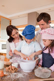 Portrait of a family baking Stock Images